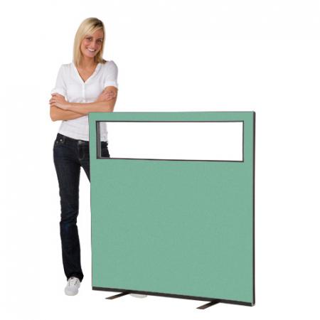 1200 (w) x 1200 (h) glazed office screen - Ivy Woolmix