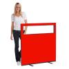 1200 (w) X 1200 (h) glazed office screen - Red