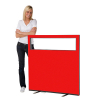 1200 (w) x 1200 (h) glazed office screen - Red Woolmix