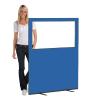 1200 (w) X 1500 (h) glazed office screen - Blueberry