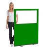 1200 (w) X 1500 (h) glazed office screen - Green