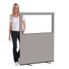 1200 (w) X 1500 (h) glazed office screen - Grey