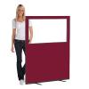 1200 (w) X 1500 (h) glazed office screen - Wine
