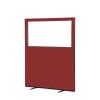 1200 (w) x 1500 (h) glazed office screen - Ruby Woolmix
