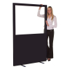 1200 (w) X 1800 (h) glazed office screen - Wine