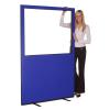1200 (w) X 1800 (h) glazed office screen - Blue