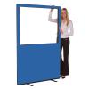 1200 (w) X 1800 (h) glazed office screen - Blueberry