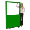 1200 (w) X 1800 (h) glazed office screen - Green