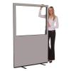 1200 (w) X 1800 (h) glazed office screen - Grey