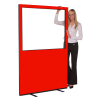 1200 (w) X 1800 (h) glazed office screen - Red