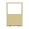 1200 (w) x 1800 (h) glazed office screen - Beige Woolmix