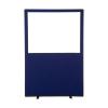 1200 (w) x 1800 (h) glazed office screen - Blue Woolmix