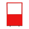 1200 (w) x 1800 (h) glazed office screen - Red Woolmix