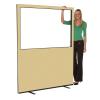 1500mm (w) x 1800mm (h) Glazed office screen - Beige Woolmix