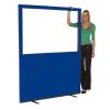 1500mm (w) x 1800mm (h) Glazed office screen - Blue Woolmix