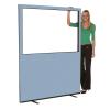 1500mm (w) x 1800mm (h) Glazed office screen - Crystal Woolmix