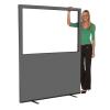 1500mm (w) x 1800mm (h) Glazed office screen - Grey Woolmix