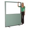 1500mm (w) x 1800mm (h) Glazed office screen - Ivy Woolmix