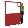 1500mm (w) x 1800mm (h) Glazed office screen - Ruby Woolmix