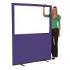 1500mm (w) x 1500mm (h) Glazed office screen - Violet Woolmix