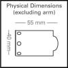 Mimas LED display light head dimensions