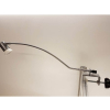 Mimas LED display light with curved arm and G clamp