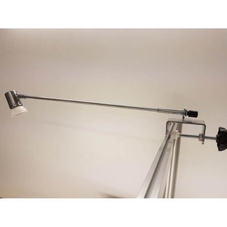 Mimas LED display light with straight arm and G clamp