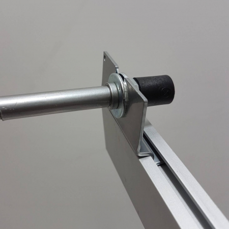 Panel clip for Atlas LED display light with straight arm