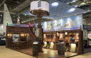 9m x 4m exhibition stand at London Boat Show