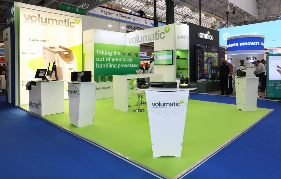 7m x 5m exhibition stand at RBTE - Volumatic