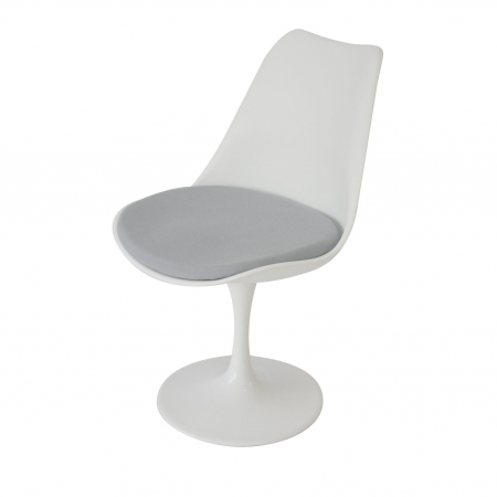 CH26 tulip side chair hire - White