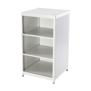 CT60 counter shelving unit hire - shelves view