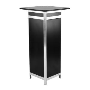 DP41 computer plinth display hire - Black