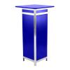 DP41 computer plinth display hire - Blue