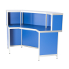 DP47 corner reception counter in blue for hire