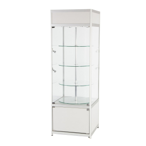 RS51 rotating tallboy glass display case hire