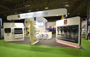 9m x 7m exhibition stand at Advanced Engineering