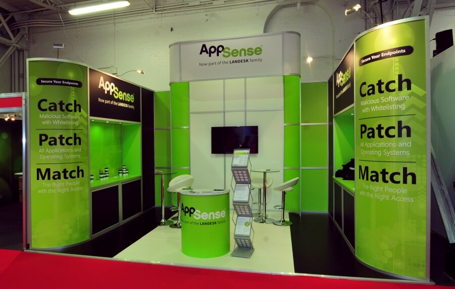 5.5m x 3.5m exhibition stand hire