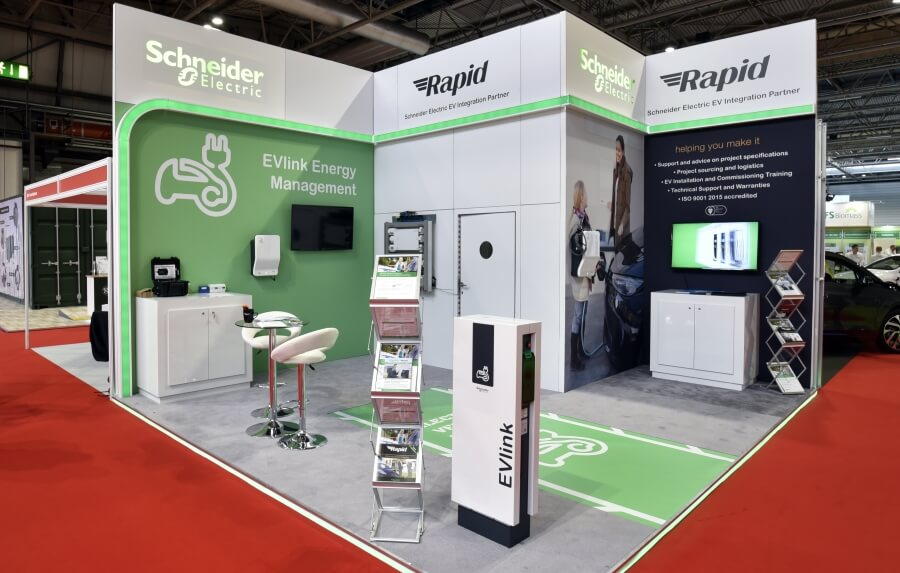 5.5m x 5m exhibition stand hire