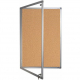 Lockable cork notice board - Single door