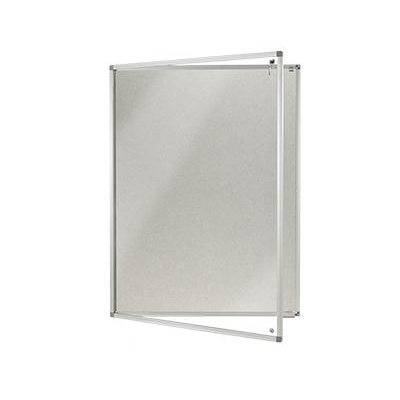 Lockable Polycolour notice board - single door - Light Grey