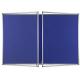 Lockable Polycolour notice board double door - Oxford Blue