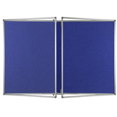 Lockable Polycolour notice board double door - Oxford Blue