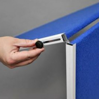 Mobile folding felt notice board - Folding