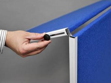 Mobile folding felt notice board - Folding