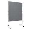 Mobile folding felt notice board - Grey