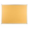 Polycolour notice board with aluminium frame - Caramel