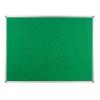 Polycolour notice board with aluminium frame - Green