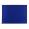 Polycolour notice board with aluminium frame - Oxford Blue