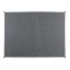 Polycolour notice board with aluminium frame - Slate Grey